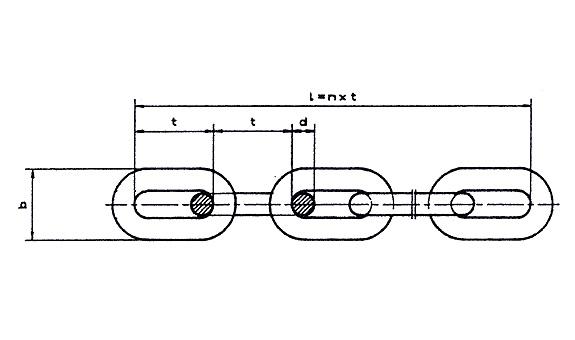 Rundstahlketten und Kettenenden nach DIN 764 und DIN 766